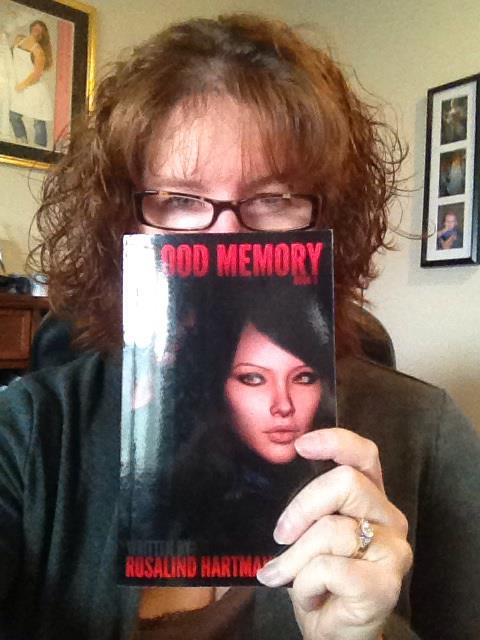 My San Diegan BFF and her copy of Blood Memory!